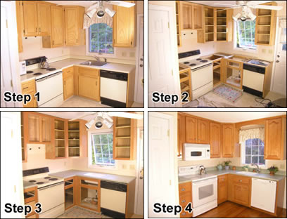 diy refinishing kitchen cabinets cabinet refacing kraftmaid outlet 14966